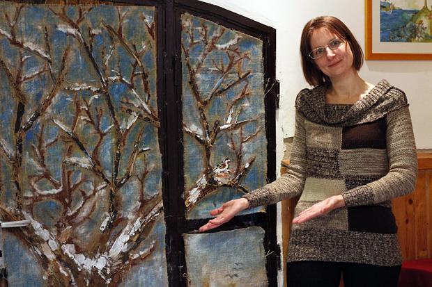 Gabi készítette el a hobbit ajtó őszi-téli dekorációját