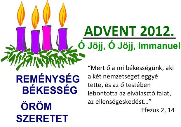 A négy adventi gyertya jelentése