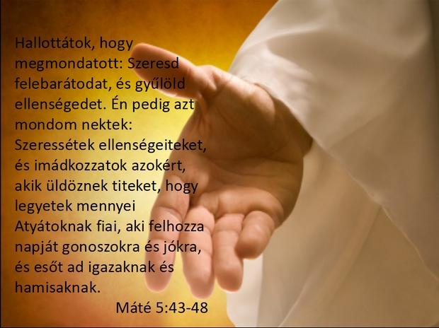 Máté evangéliuma 5, 43-48.