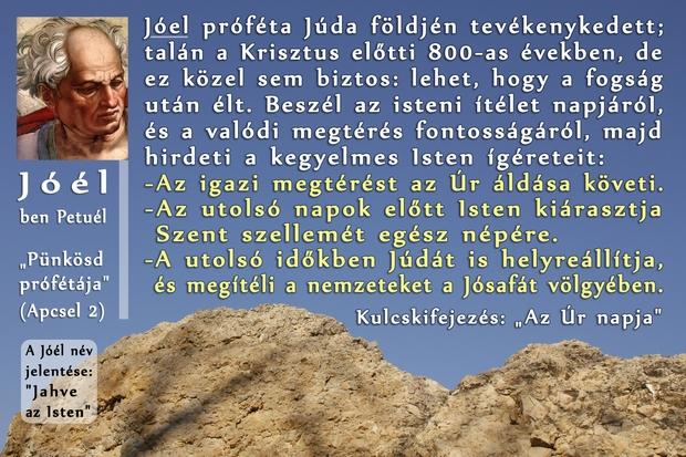 Joel próféta könyve, Prophet Joel