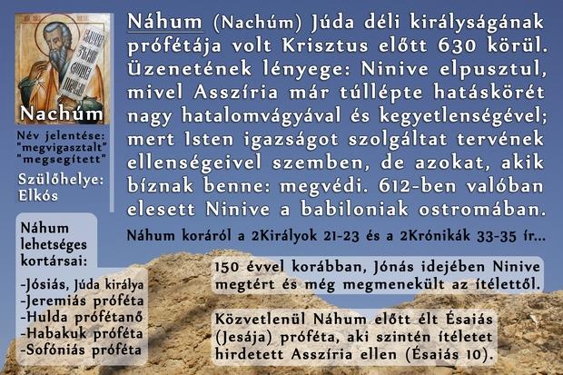 Náhum próféta könyve, Prophet Nachum