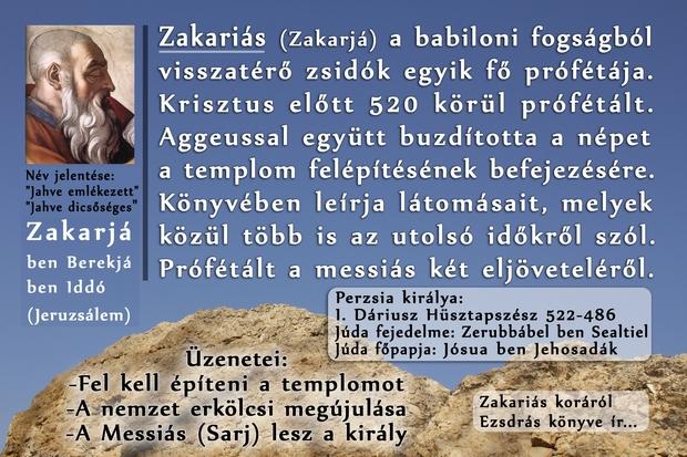 Zakariás próféta, Prophet Zechariah