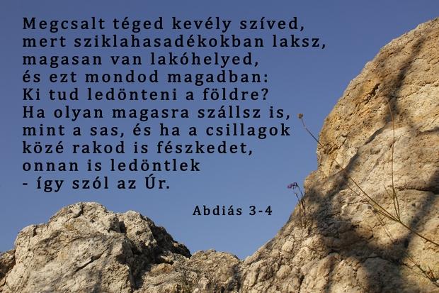Abdiás próféta könyve 3-4
