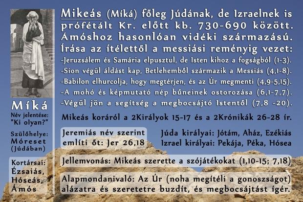 Mikeás próféta könyve (Prophet Micah)