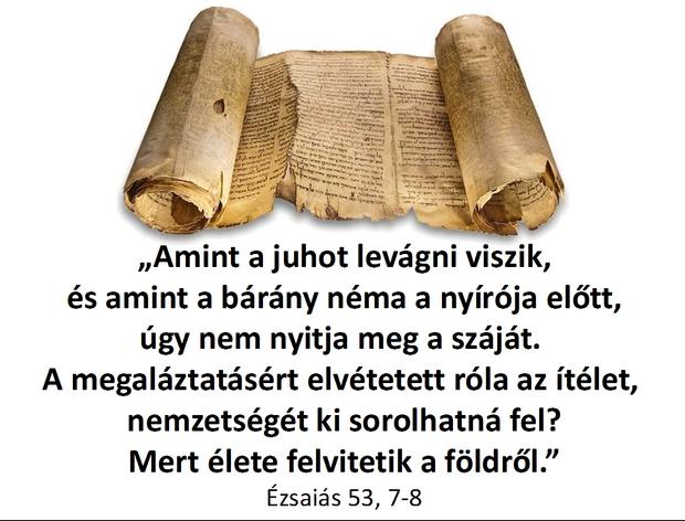 Ézsaiás 53,7-8.