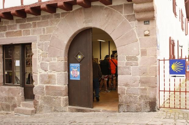 Saint Jean Pied de Port - a zarándokok irodája
