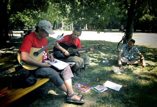 A Margitszigeten énekeltünk, még dalt is írtunk...