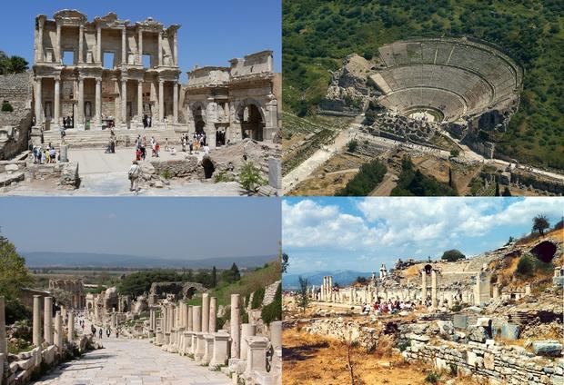 Az újszövetségi időkbeli hatalmas kereskedelmi központ, Efézus most romokban áll