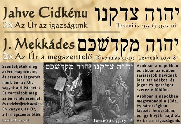 A két vizsgált név Jeremiáshoz és Mózeshez kapcsolódik.