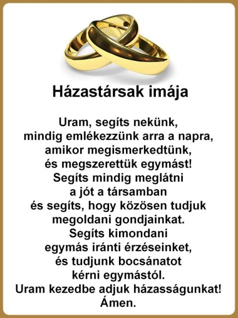 Házastársak imája