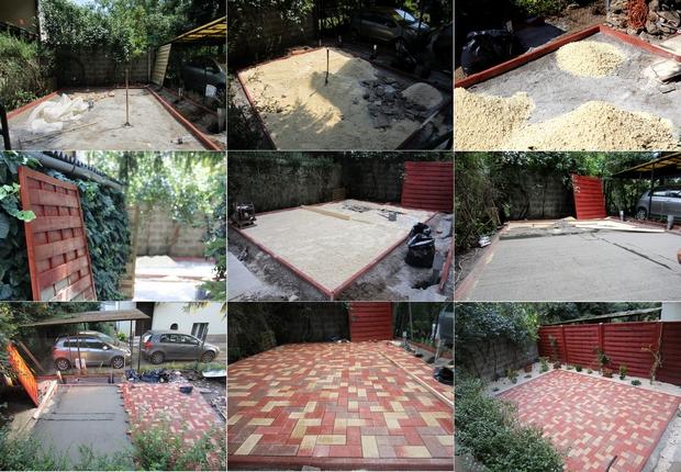A kert(sz)építés mozzanatai a Közhely udvarán
