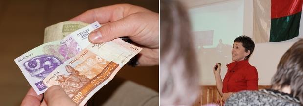 Az ariary Madagaszkár hivatalos pénzneme.