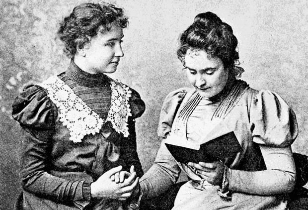 Helen Keller és tanítója, Anne Sullivan
