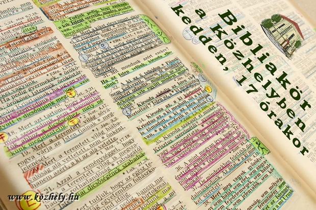 Keddenként Bibliaóra!