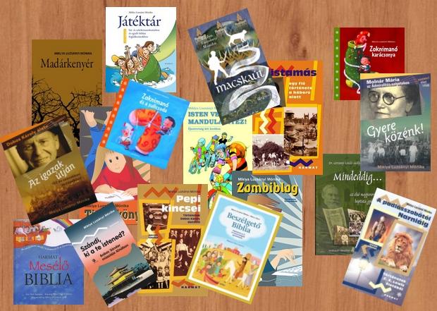 Miklya Luzsányi Mónika könyvei a Harmat és a Parakletos Kiadó gondozásában jelentek meg
