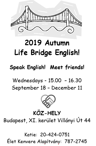 2019 Autumn English Class invitation